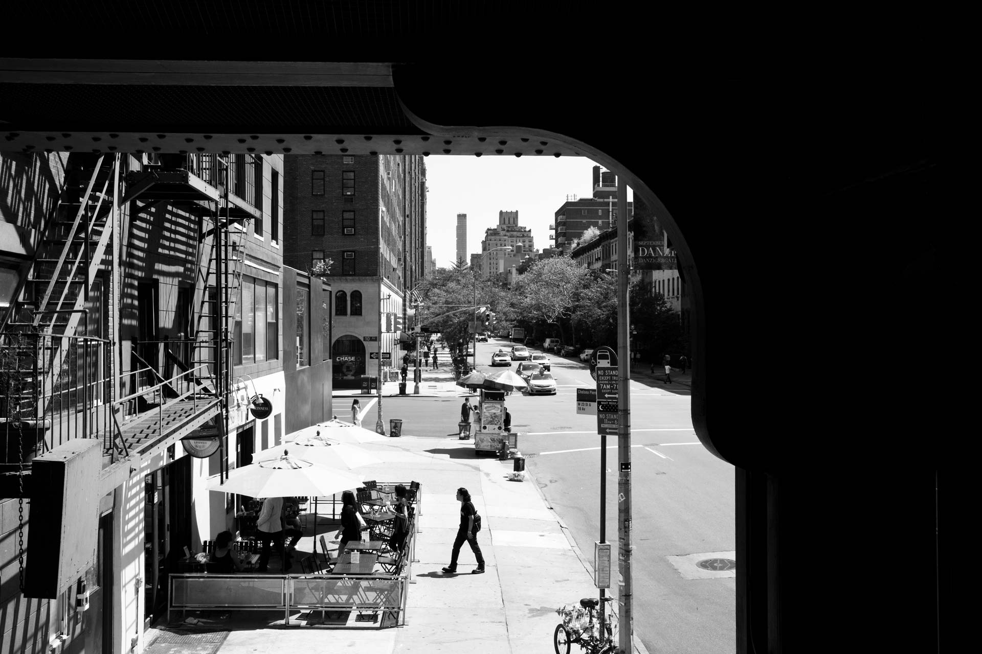 View from the High Line on 23rd and 10th Avenue