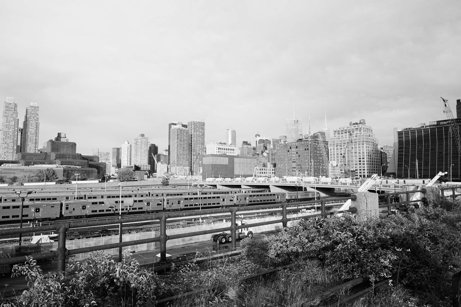 View from the High Line overlooking Hudson Yards