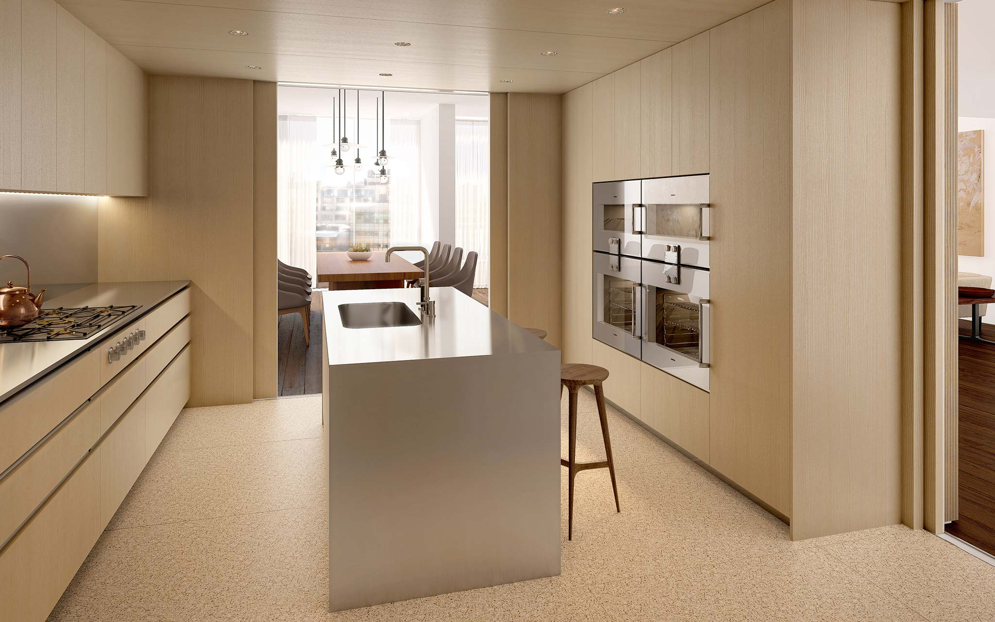 West Chelsea Condominium: Modern Kitchen