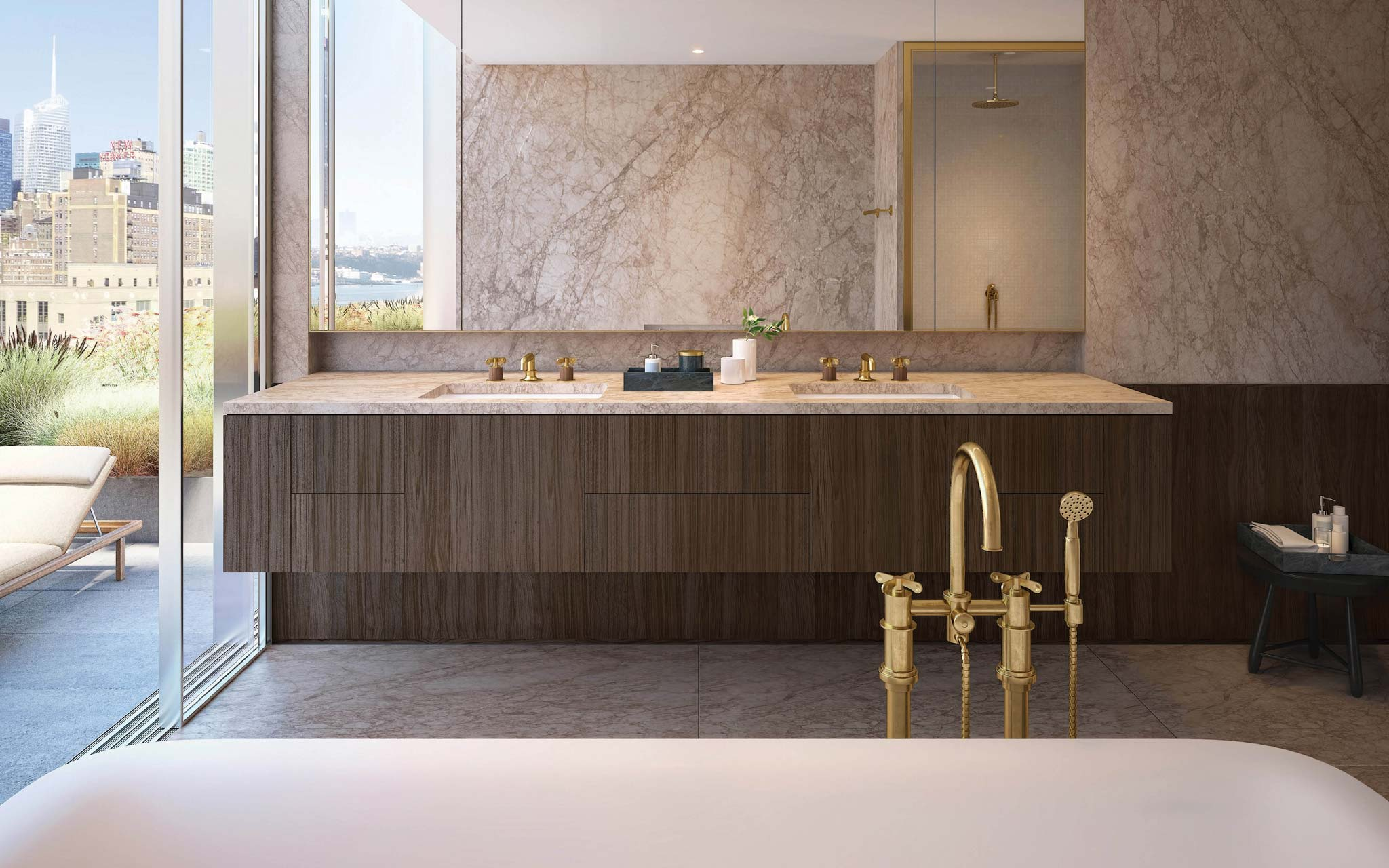 West Chelsea Condos: Master Bathroom