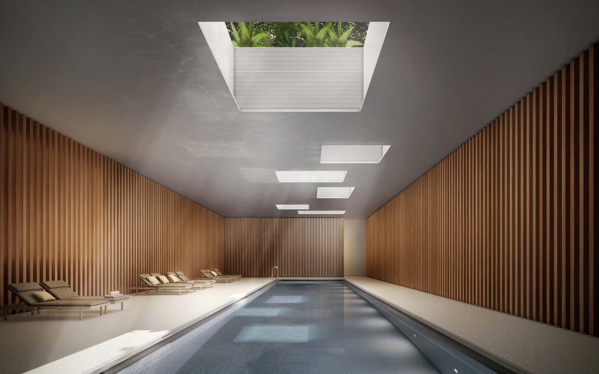 West Chelsea Condos Private Pool & Spa