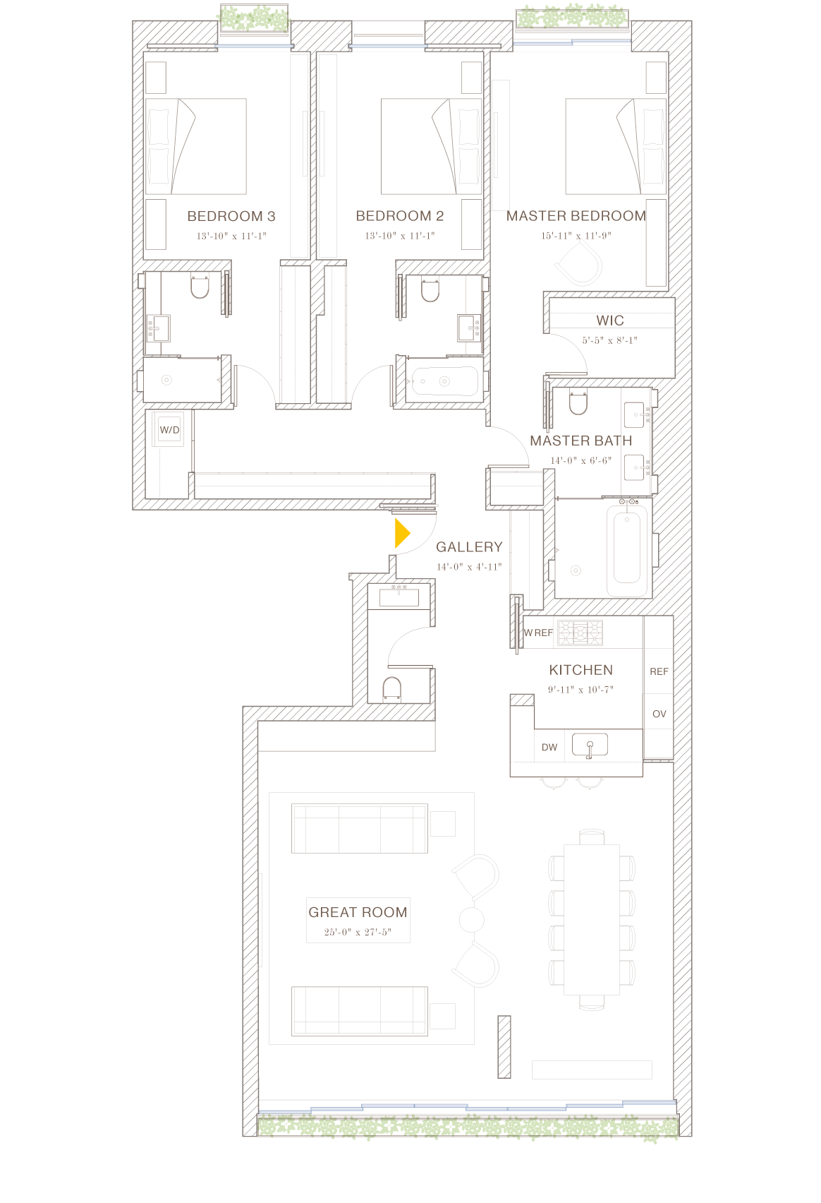 Norte: Floorplan 3A