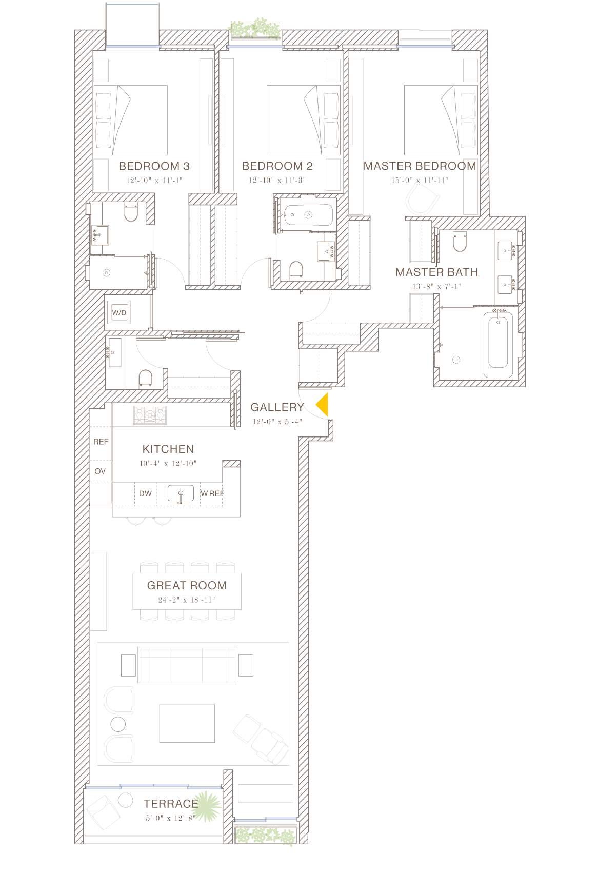 Norte: Floorplan 3D
