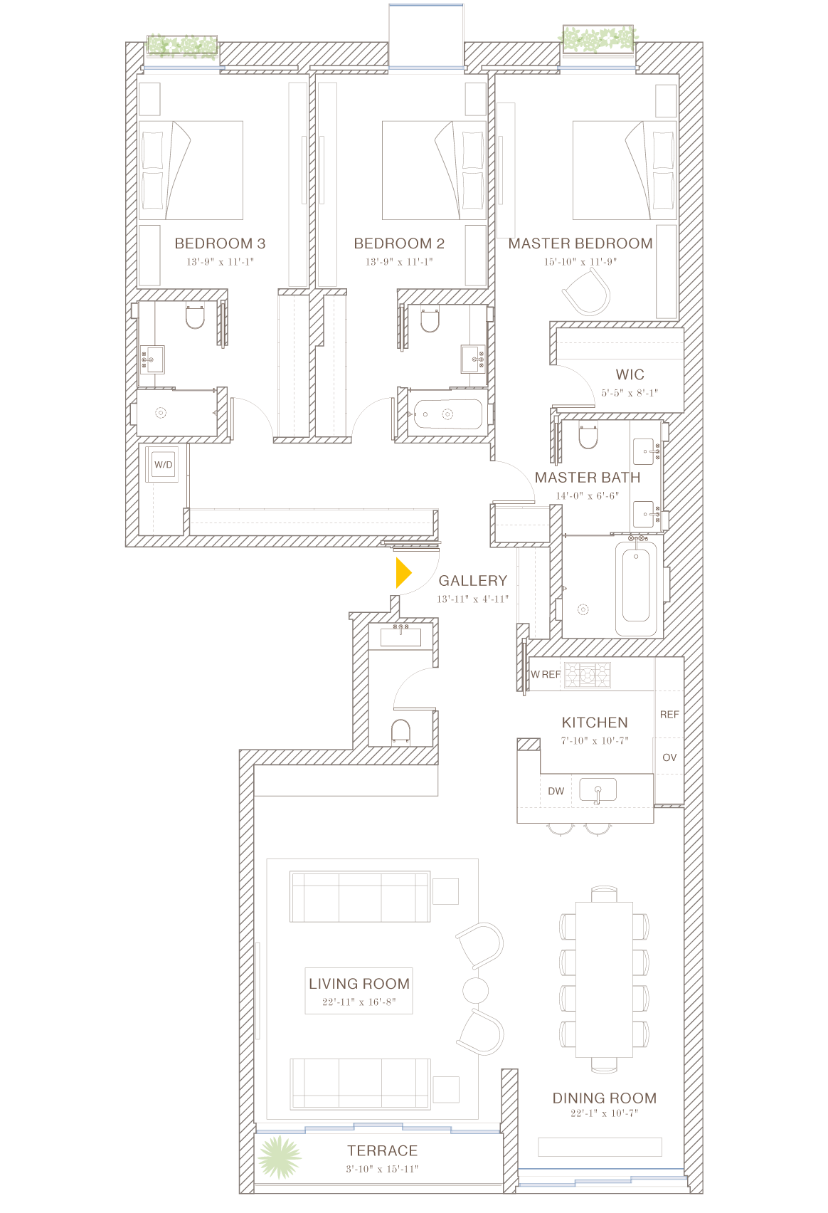 Norte: Floorplan 4A